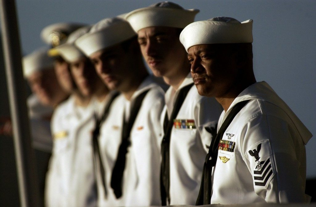 us navy, sailors, lined up